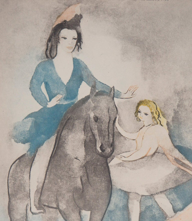 Rider and Dancer - Original Etching - Modern Print by Marie Laurencin