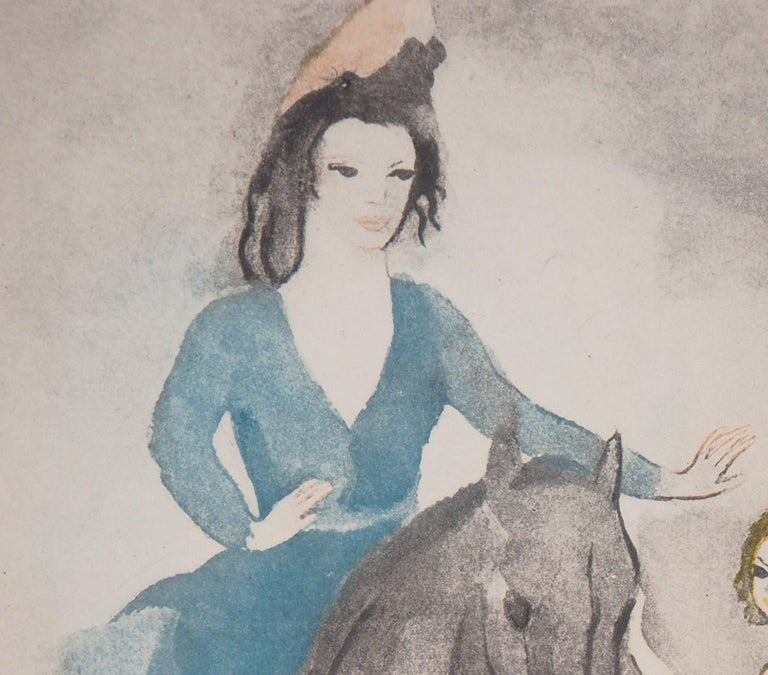 Rider and Dancer - Original Etching - Gray Figurative Print by Marie Laurencin