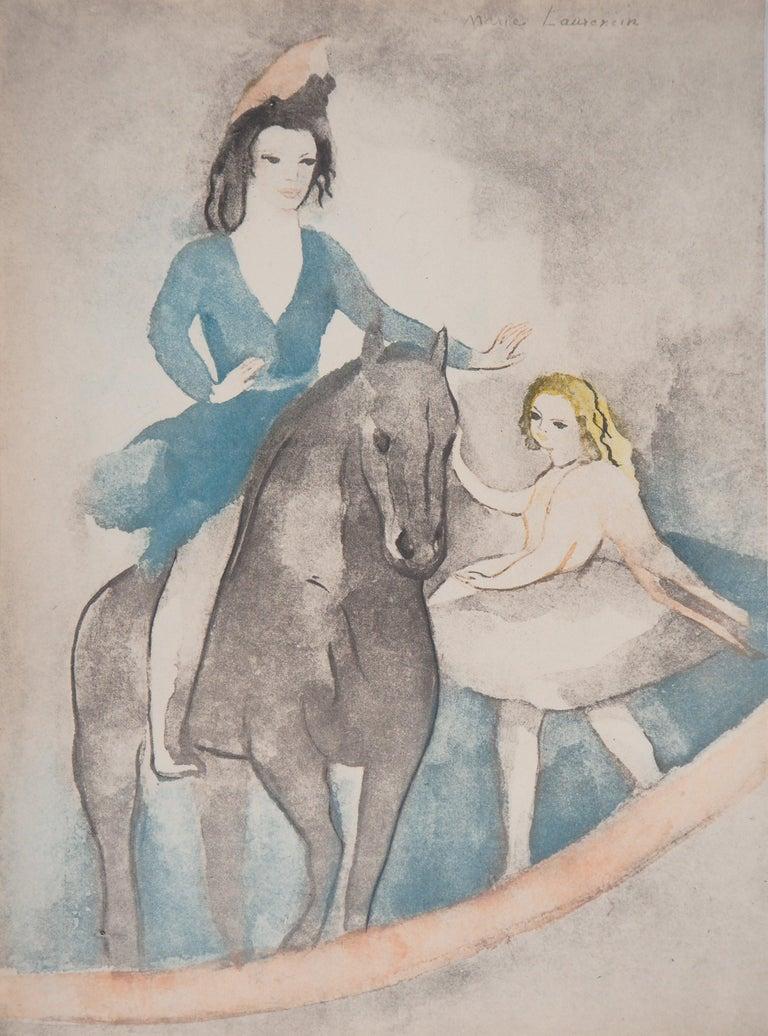 Marie Laurencin Figurative Print - Rider and Dancer - Original Etching