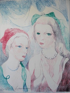Two Angels - Original lithograph, Handsigned (Marchesseau #254)