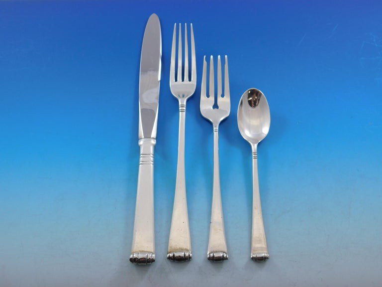 Mexican Marie Louise by Tane Mexico Sterling Silver Flatware Set 8 Service 54 Pc Dinner For Sale