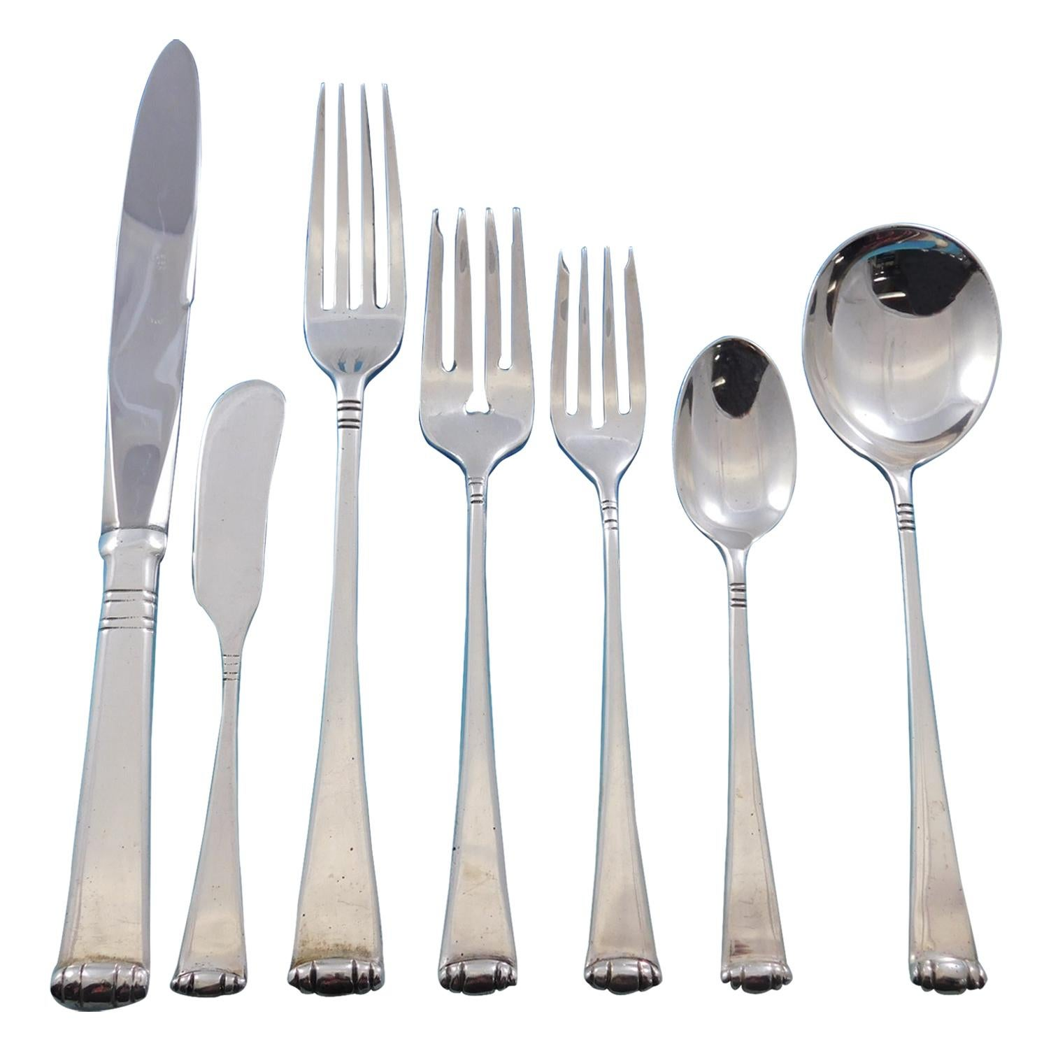 Marie Louise by Tane Mexico Sterling Silver Flatware Set 8 Service 54 Pc Dinner