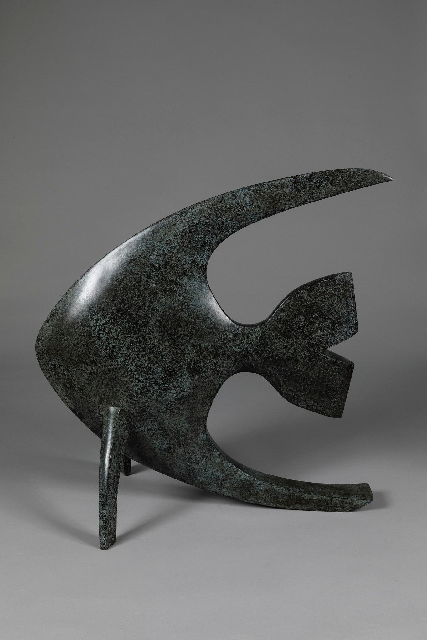 Acqua, Animal Bronze Sculpture (Fish)