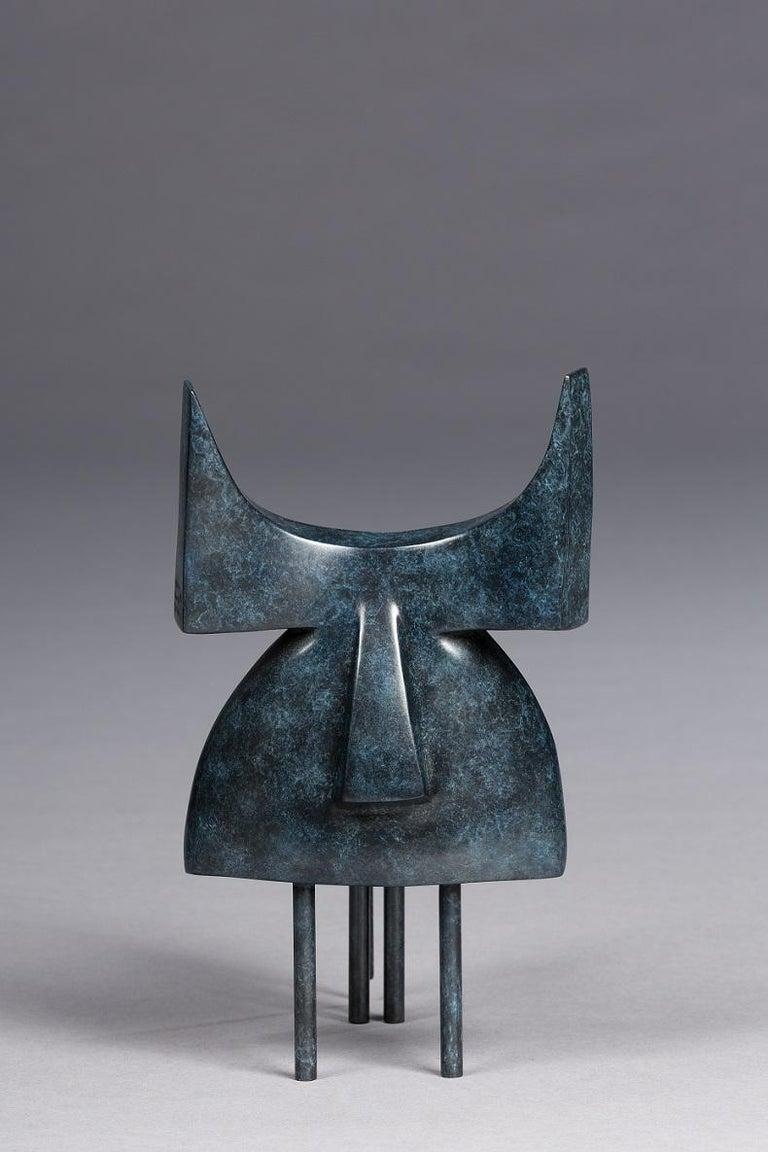 Marie Louise Sorbac Figurative Sculpture - Pablo, Animal Bronze Sculpture (Bull)