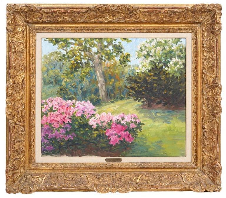 marie lucie NESSI Landscape Painting - At The Park Monceau Paris