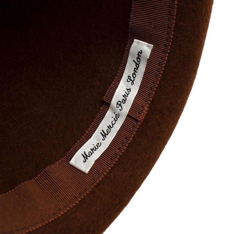 Marie Mercie Brown Felt Hat  For Sale 2