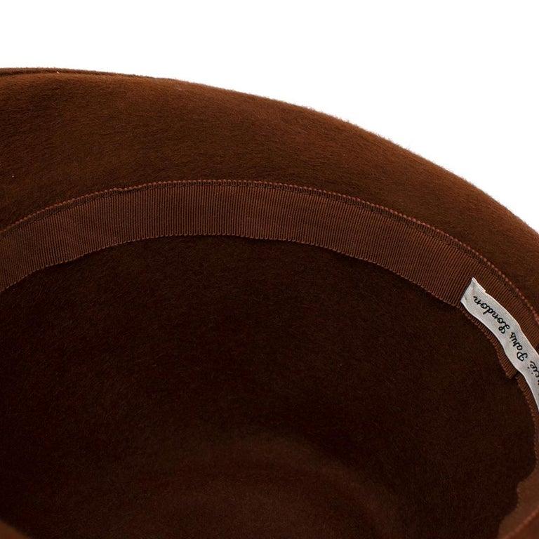 Marie Mercie Brown Felt Hat  For Sale 3