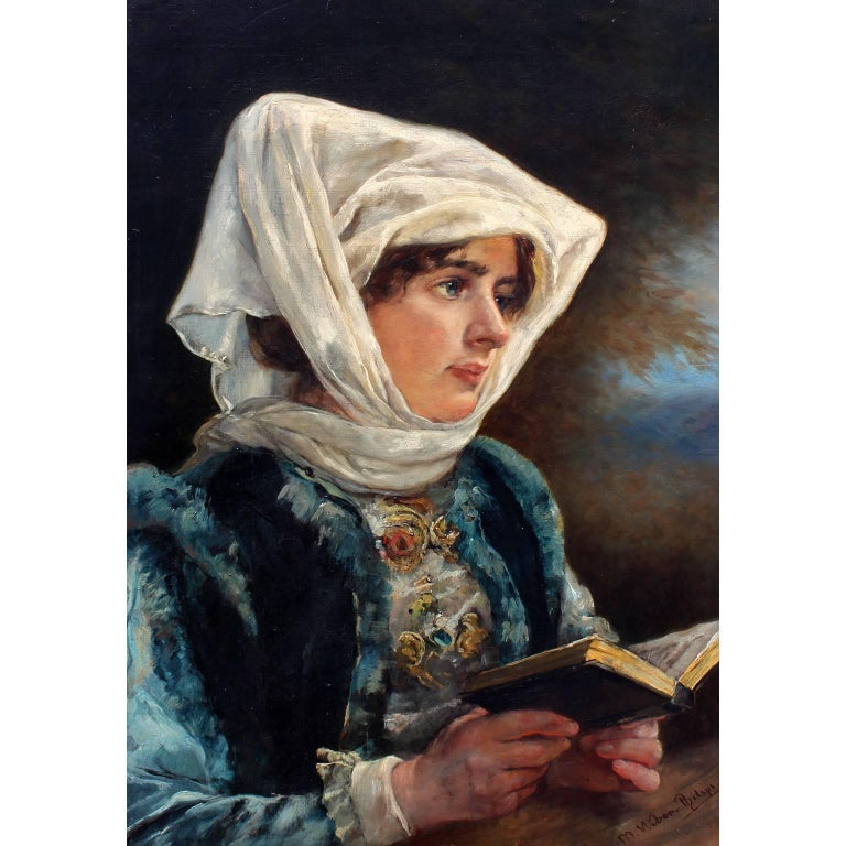 Marie Philips-Weber (German, 1845-1942) oil on canvas