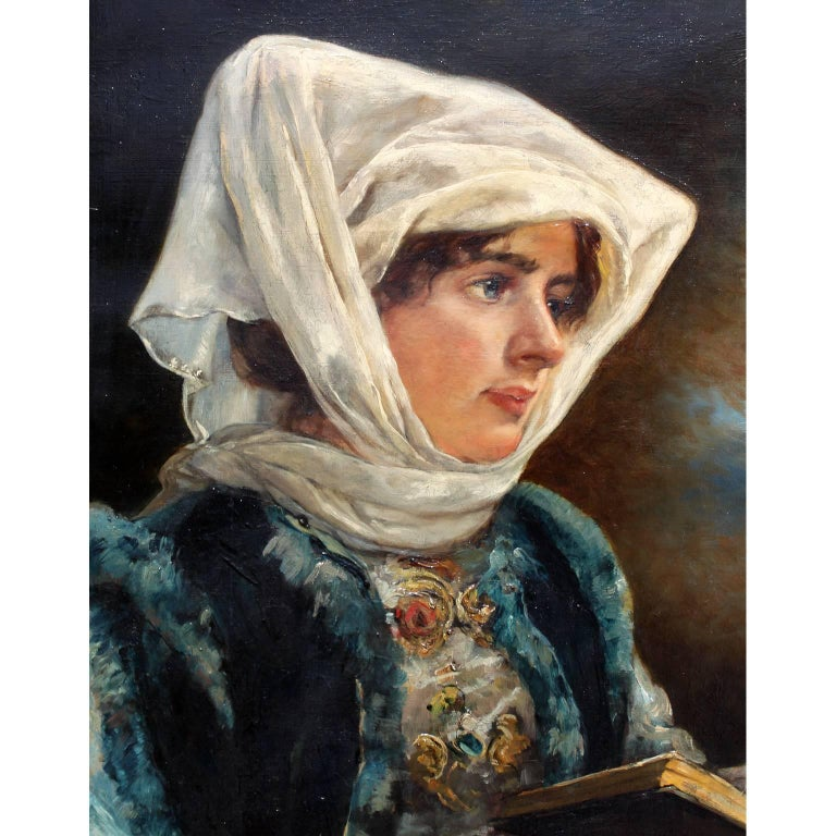 Victorian Marie Philips-Weber Oil on Canvas