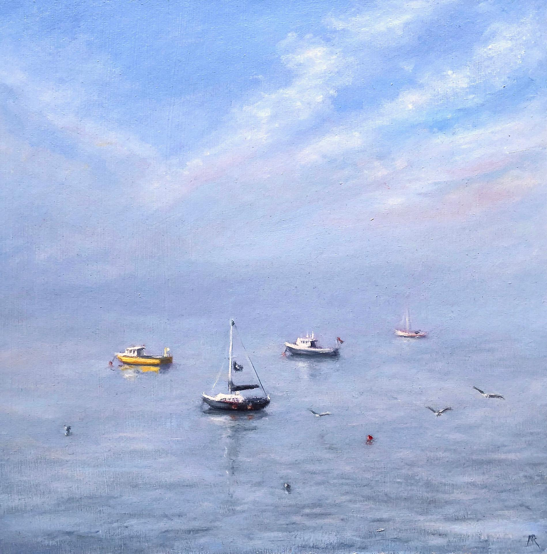 Marie Robinson, Afternoon Calm, Original Seascape Painting, Affordable Art