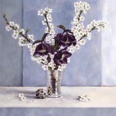 Marie Robinson, Spring Harmony, Original Still Life Painting, Affordable Art