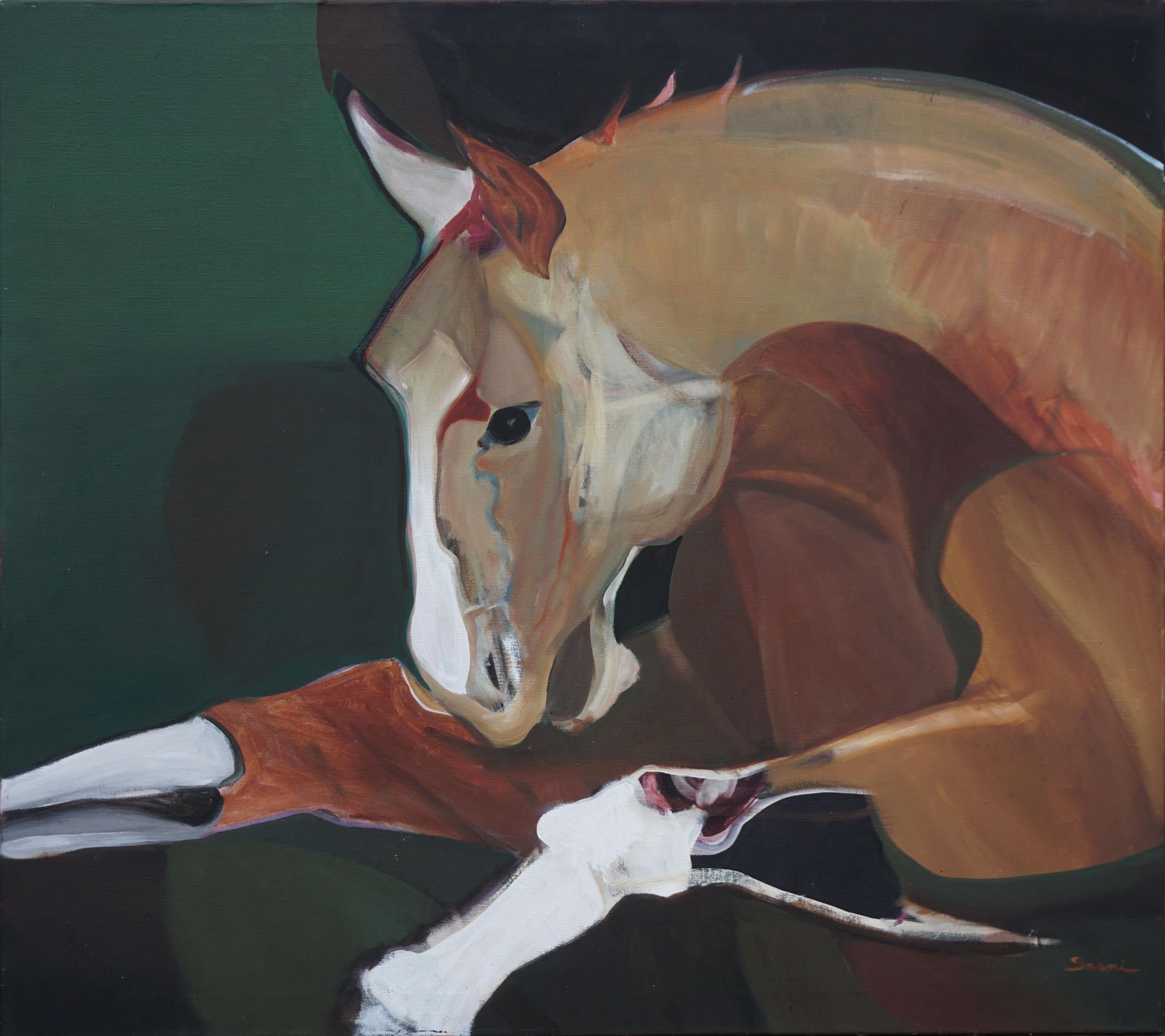 Abstract Expressionist Buckskin Horse