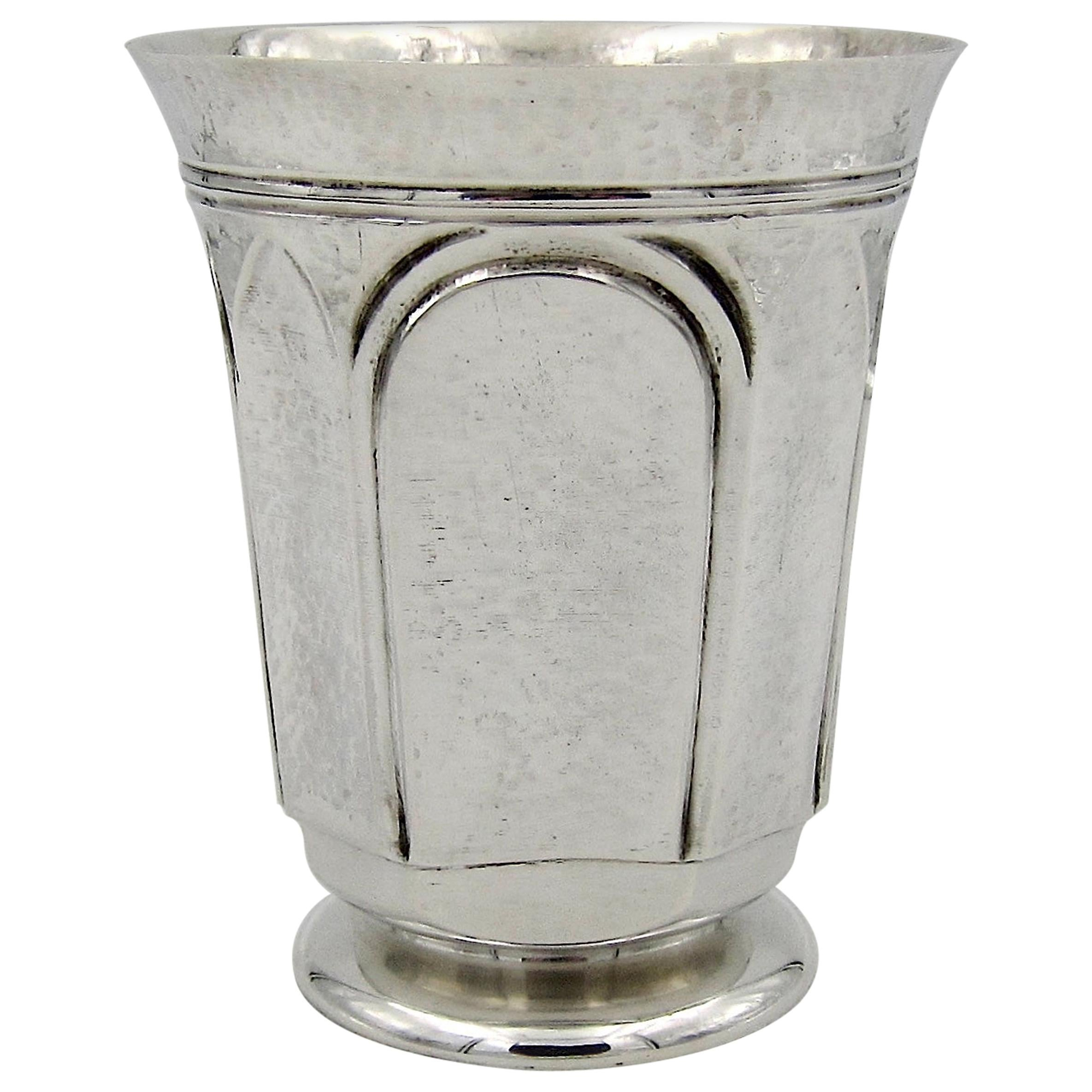 Marie Zimmermann Arts & Crafts Sterling Silver Tumbler