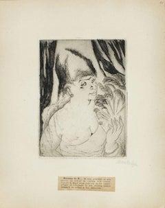 Portrait of Baronne de R. - Original Etching by M. Lydis - 1927