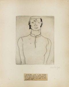 Portrait of Caroline M. - Original Etching by M. Lydis - 1927