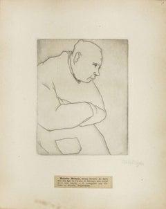 Portrait of Hermine Masson - Original Etching by M. Lydis - 1927