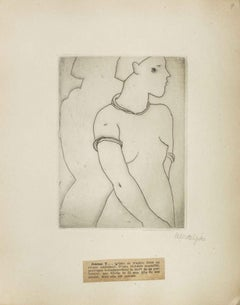 Portrait of Jeanne V.- Original Etching by M. Lydis - 1927