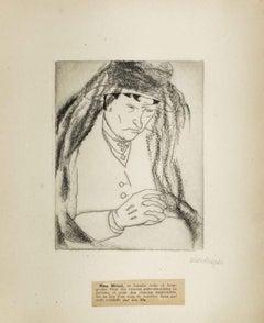 Portrait of M.me Michel - Original Etching by M. Lydis - 1927