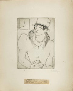 Portrait of Rose Martinet by M. Lydis - Original Etching - 1927