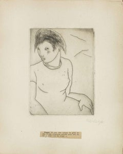 Portrait of Yvette - Original Etching by M. Lydis - 1927