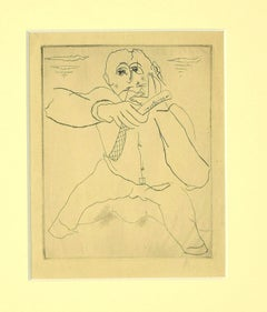 The Barber - Original Etching and Drypoint - 1930s