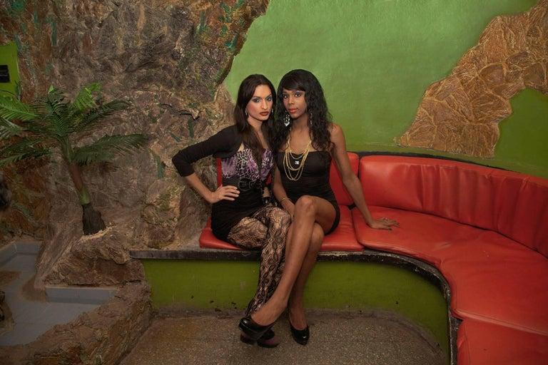 Mariette Pathy Allen Portrait Photograph - Laura and Lady at the Las Vegas Club, Havana