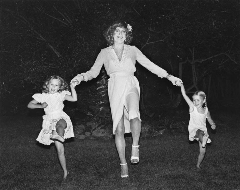 Mariette Pathy Allen Black and White Photograph - Vicky West Dancing the Cancan with My Daughters, Cori and Julia