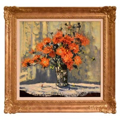 """""""Marigolds"""" Oil painting by Geoffrey Chatten"""