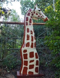 Giraffe - Monumental Contemporary Resin Outdoor Sculpture