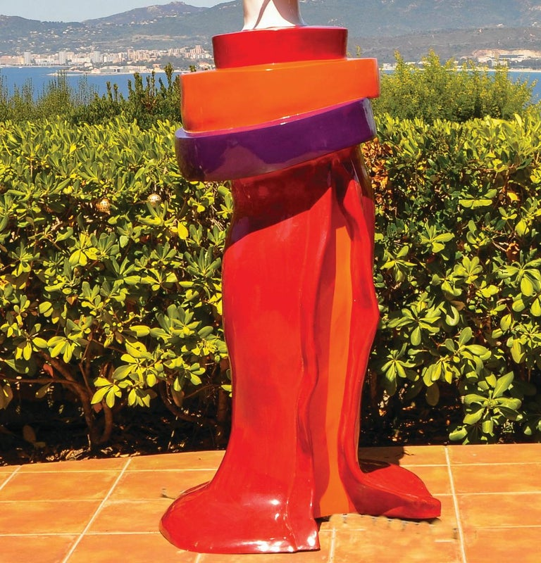 Gueishas - Monumental Contemporary Resin Outdoor Scuptures For Sale 6