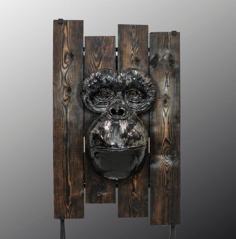 Mariko Figurative Sculpture - Monkey's Face
