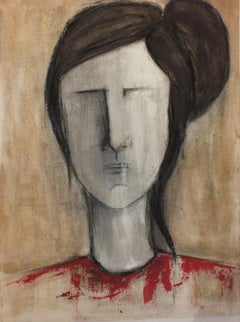 Mrs Y#, Mixed Media on Canvas