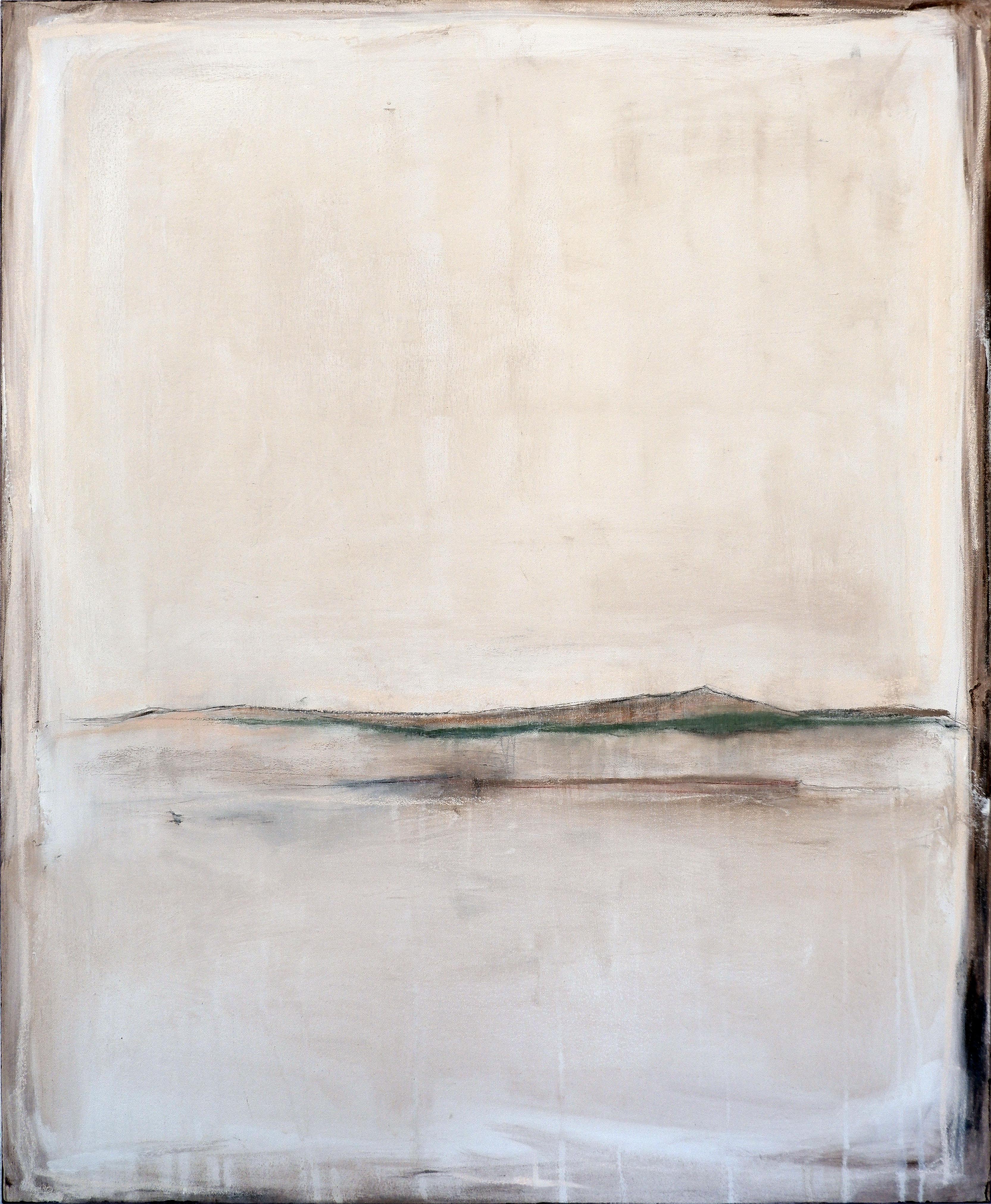 Landscape 101, Contemporary Mixed media Abstract Minimalist White Monochrome