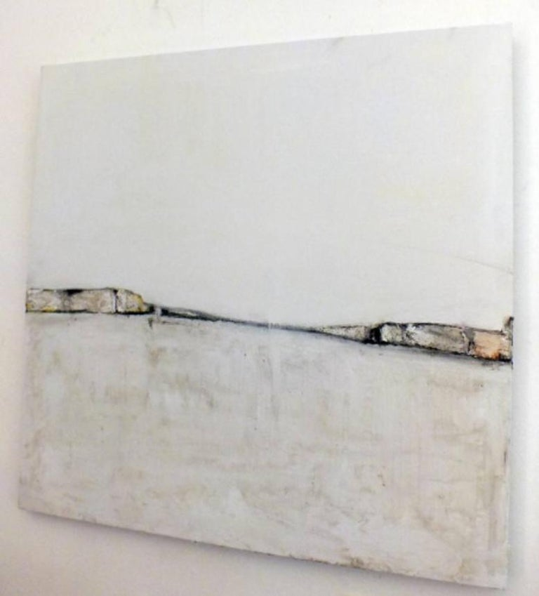 Landscape 11, Marilina Marchica, Minimalist Abstraction, Landscape, Graphic - Gray Abstract Painting by Marilina Marchica