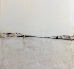 Landscape 11, Contemporary Minimalist Abstract Landscape Contemporary White