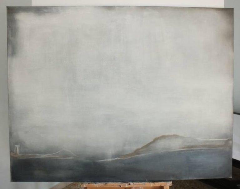 Landscape 38, Marilina Marchica, Minimalist Abstract, Sea View, Nature, Dark For Sale 1