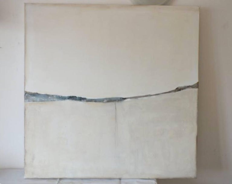 'Landscape 51' by Marilina Marchica  - a great minimalist abstract of a landscape with a thin horizon line. Cityscapes, nature, and charm of decaying buildings remain a major focus of the artist's creative process. This artwork brings a lot of