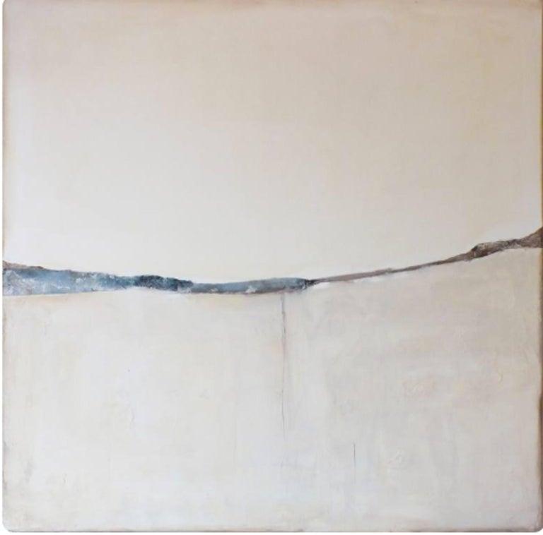 Landscape 51, Marilina Marchica, Minimalist Abstract, White Mixed-media, Nature - Painting by Marilina Marchica