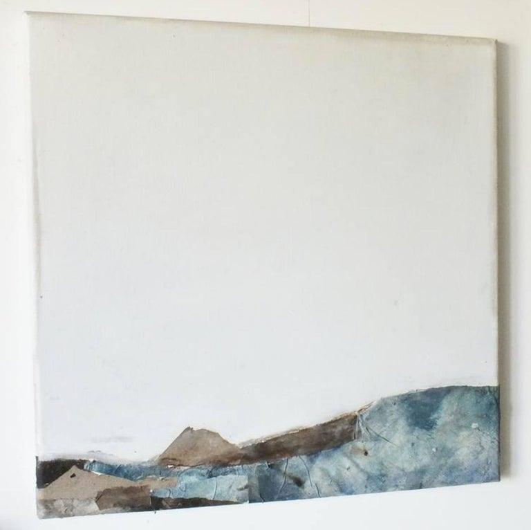 Landscape 53, Marilina Marchica, Minimalist Abstract, Blue Seascape, Mixed-media For Sale 1