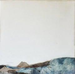 Landscape 53, Marilina Marchica, Minimalist Abstract, Blue Seascape, Mixed-media