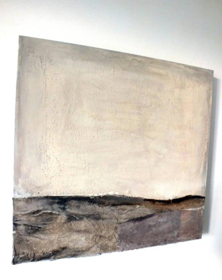 Landscape 54, Marilina Marchica, Minimalist Abstract, Dark Colors, Mixed-media - Brown Abstract Painting by Marilina Marchica