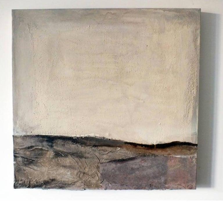 Landscape 54, Marilina Marchica, Minimalist Abstract, Dark Colors, Mixed-media For Sale 1