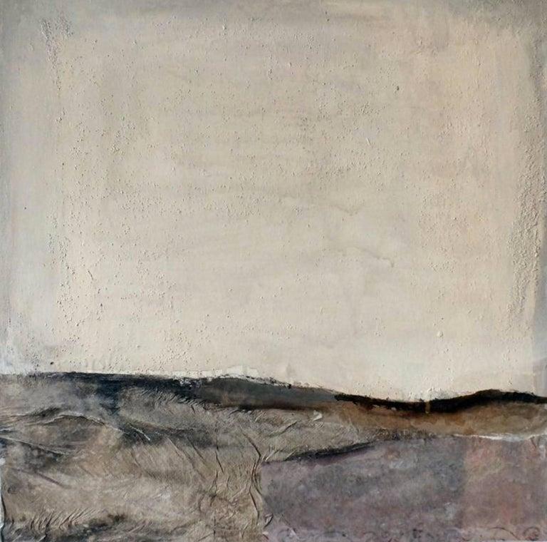 Landscape 54, Marilina Marchica, Minimalist Abstract, Dark Colors, Mixed-media - Painting by Marilina Marchica