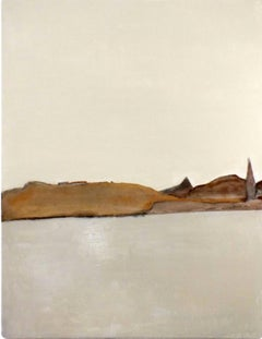Landscape 55, Marilina Marchica, Minimalist Abstract, Earthy Paper Collage