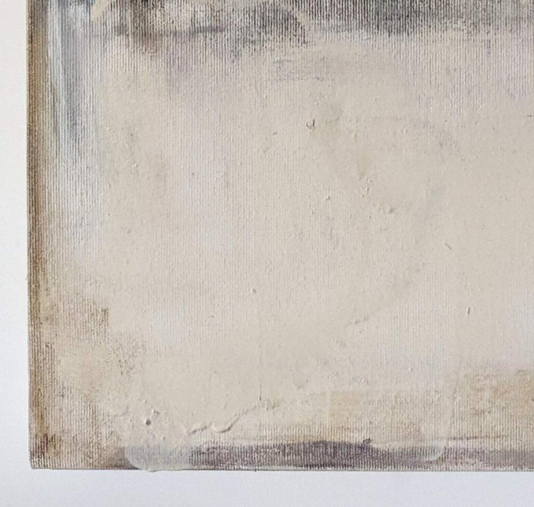 Landscape 56, Contemporary Abstract Art Mixed Media Minimalist Monochrome White - Painting by Marilina Marchica