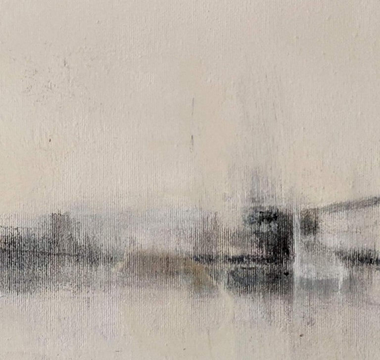 'Landscape 56' is an original minimalist abstract painting on canvas by emerging Sicilian artist - Marilina Marchica. It is a mixed media art piece which has a rich texture and authentic design. The subject is focused on Italian nature, sea views,