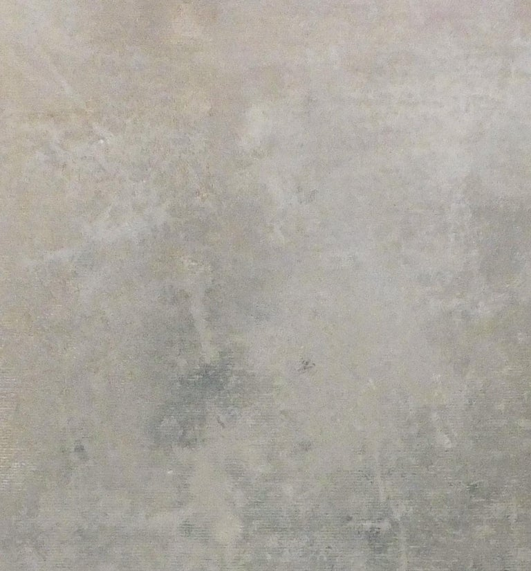 Landscape 57, Contemporary Minimalist Art Abstract Mixed Media Canvas Gray Grey For Sale 2