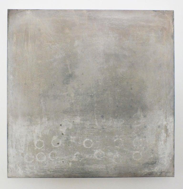 Landscape 57, Contemporary Minimalist Art Abstract Mixed Media Canvas Gray Grey - Mixed Media Art by Marilina Marchica