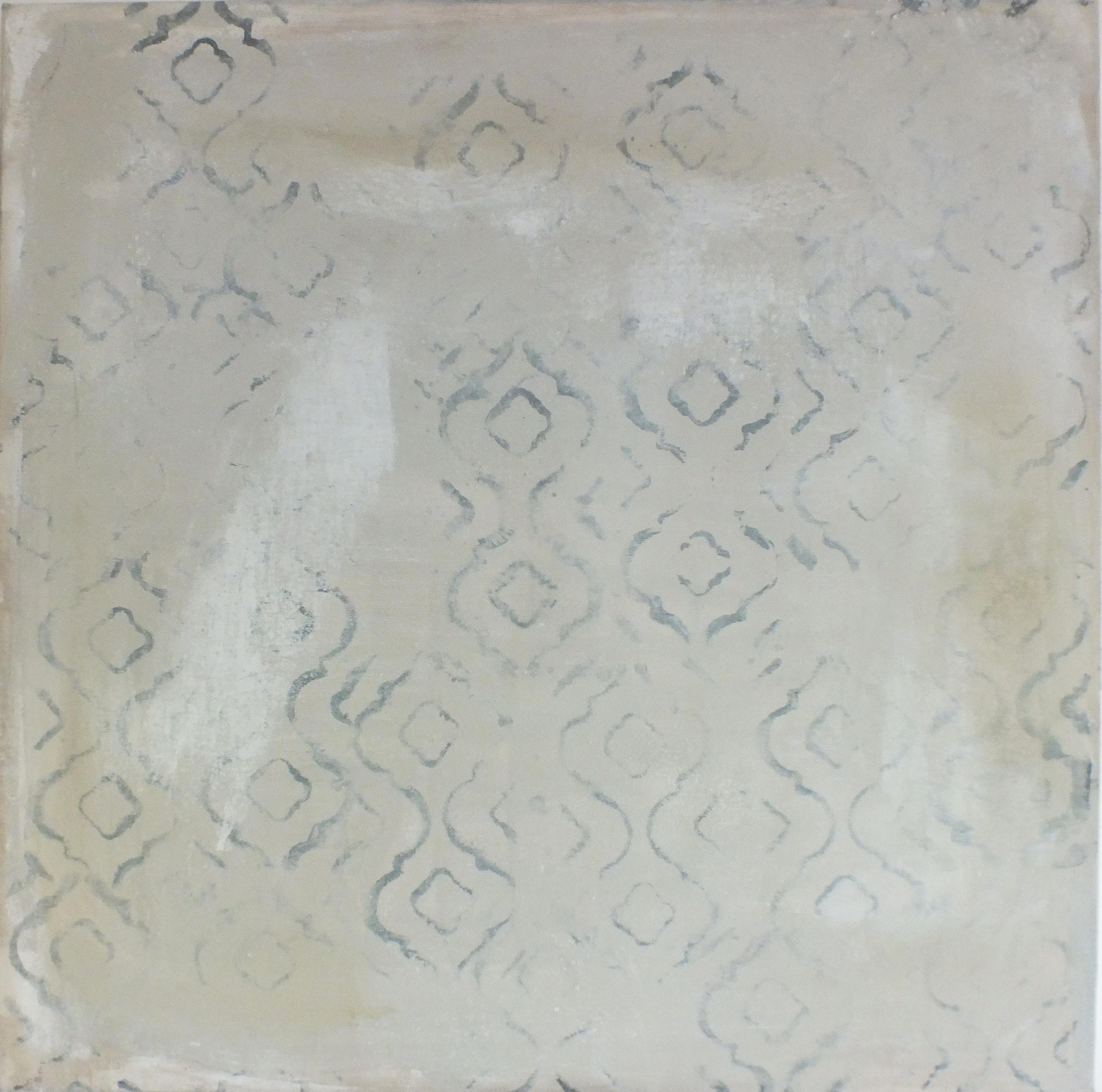Landscape 62, Contemporary Abstract Mixed Media Minimalist Canvas Grey Gray