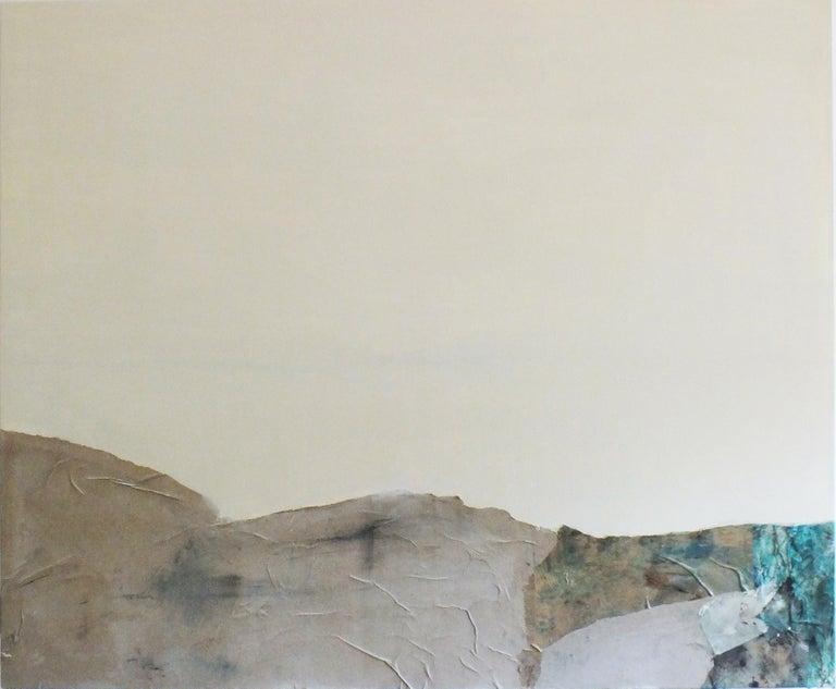 Landscape 63, Marilina Marchica, Abstract Mixed Media, Minimalist, Blue, Collage - Mixed Media Art by Marilina Marchica